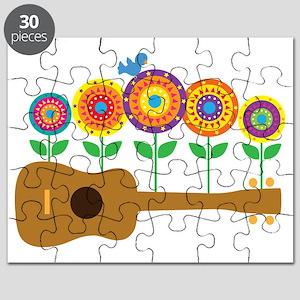 Ukulele Flowers Puzzle