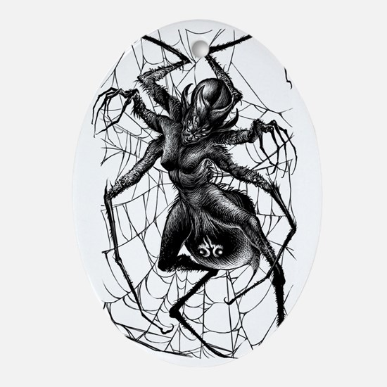 SpiderWoman2-Tshirt Oval Ornament