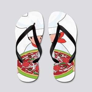 Chef and Pizza Flip Flops
