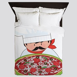 Chef and Pizza Queen Duvet
