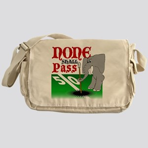None.Shall.Pass Messenger Bag