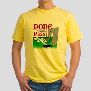None.Shall.Pass Yellow T-Shirt