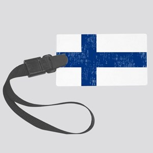 2000px-Flag_of_Finland Large Luggage Tag