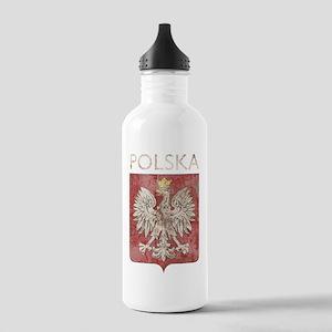 vintagePoland7Bk Stainless Water Bottle 1.0L