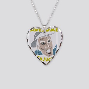 awesome cocksucker on trans Necklace Heart Charm