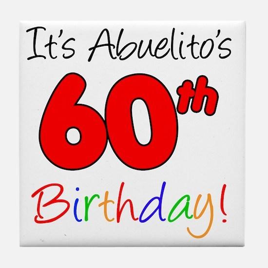 Abueltios 60th Birthday Tile Coaster