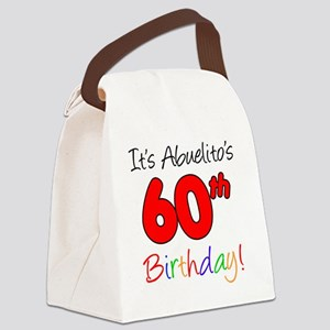 Abueltios 60th Birthday Canvas Lunch Bag