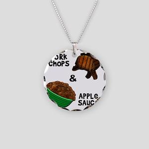 pork-bow Necklace Circle Charm