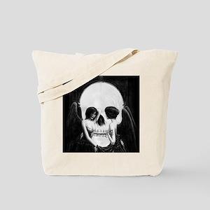 skull illusion square Tote Bag