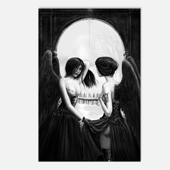 skull illusion Postcards (Package of 8)