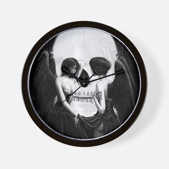 skull illusion Wall Clock