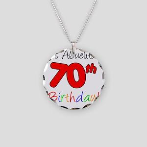Abuelitas 70th Birthday Necklace Circle Charm
