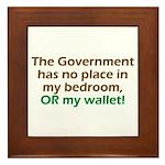 Smaller Government Framed Tile
