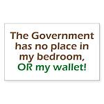 Smaller Government Rectangle Sticker