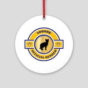 Sokoke Herder Ornament (Round)