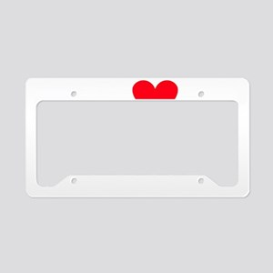 iheartgilamonsters_black License Plate Holder