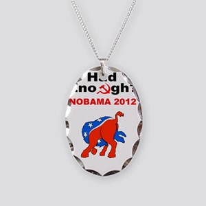NoBama 2012 Necklace Oval Charm