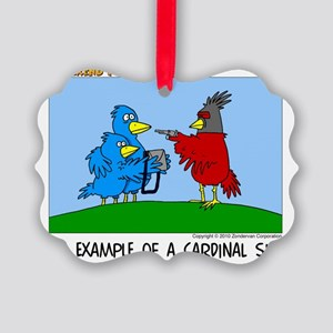 Cardinal Sin Picture Ornament