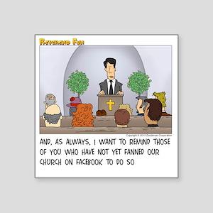 """Facebook Church Square Sticker 3"""" x 3"""""""