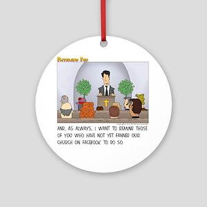 Facebook Church Round Ornament