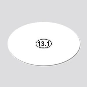 13.1 MPG 20x12 Oval Wall Decal