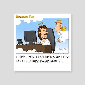 "Prayer Requests Square Sticker 3"" x 3"""