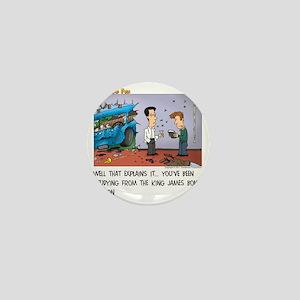 King James Bond Version Mini Button