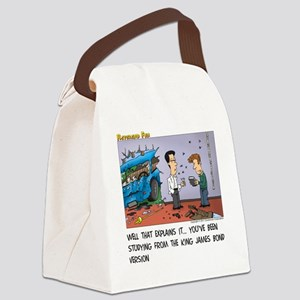 King James Bond Version Canvas Lunch Bag