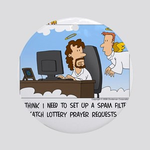 Prayer Requests Round Ornament