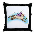 Fairy Flight Throw Pillow