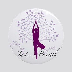 JustBreathe Round Ornament