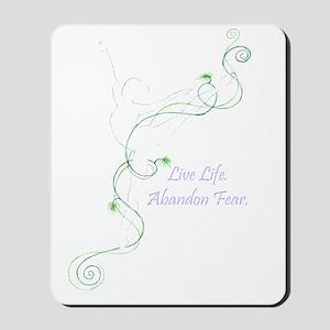 Arabesque with tag line color transparen Mousepad