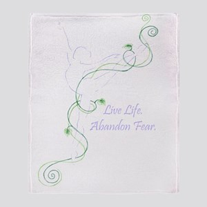 Arabesque with tag line color transp Throw Blanket