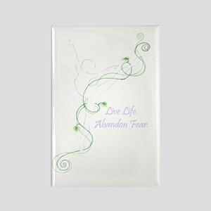 Arabesque with tag line color tra Rectangle Magnet