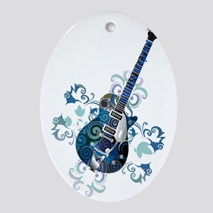 Urban Legend Grunge Guitar Rotated w Oval Ornament
