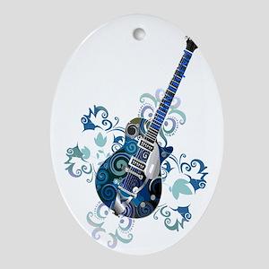 Urban Legend Grunge Guitar Rotated w Oval Ornament