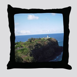 Kilauea lighthouse kauai Throw Pillow