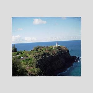 Kilauea lighthouse kauai Throw Blanket