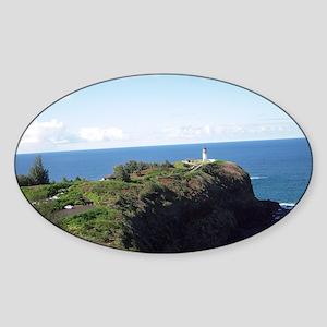 Kilauea lighthouse kauai Sticker (Oval)