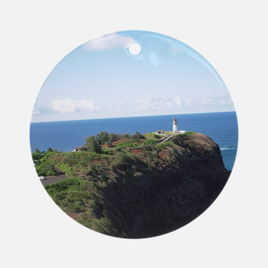 Kilauea lighthouse kauai Round Ornament