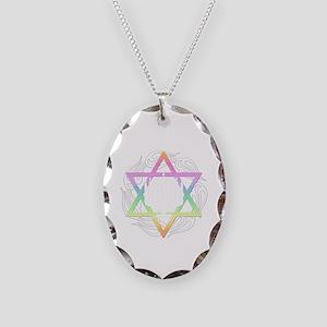 Happy Haunkkah Necklace Oval Charm