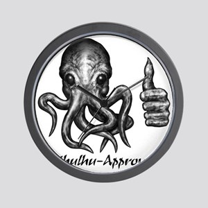 cthulhu_approved_bl_letters Wall Clock