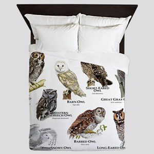 Owls of North America Queen Duvet