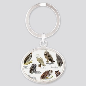 Owls of North America Oval Keychain