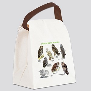 Owls of North America Canvas Lunch Bag