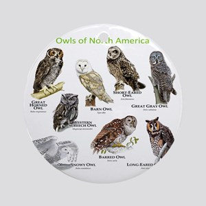 Owls of North America Round Ornament