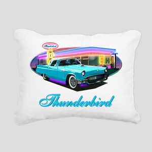Thunderbird Diner Blue c Rectangular Canvas Pillow