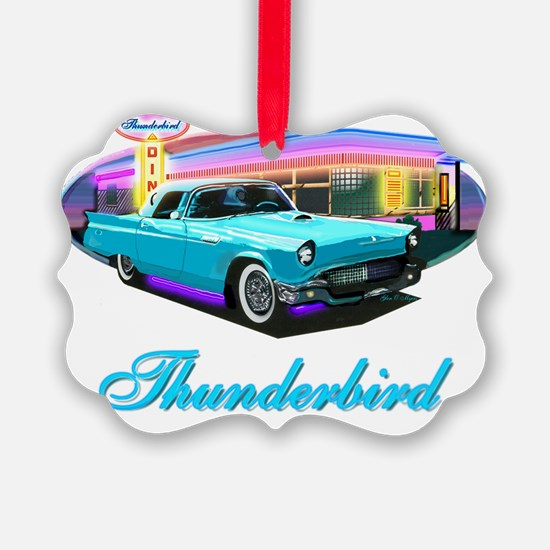 Thunderbird Diner Blue copy Ornament