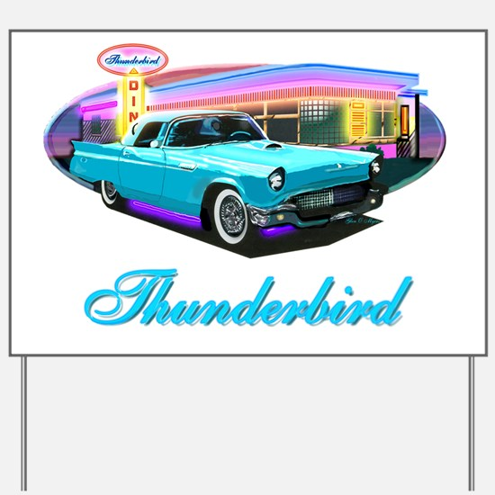 Thunderbird Diner Blue copy Yard Sign