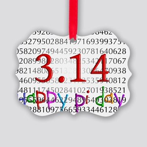 Happy Pi Day numbers 2012 Picture Ornament